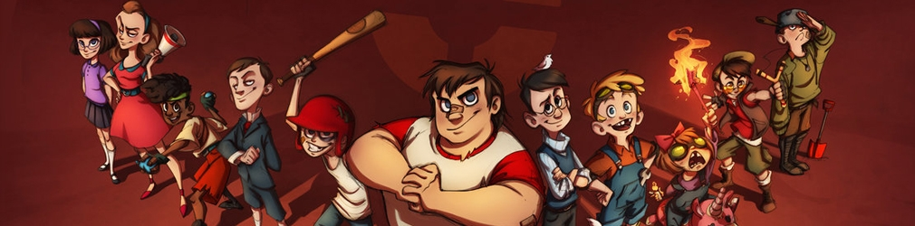 Персонажей Team Fortress 2 представили в виде детишек