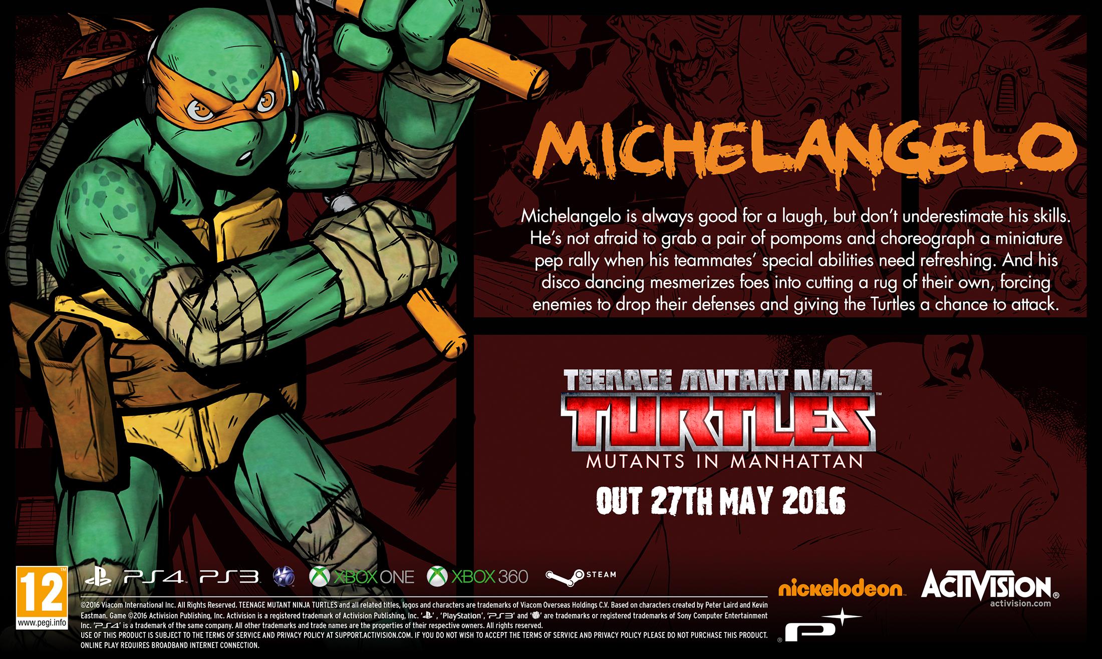 Трейлеры героев TMNT: Mutants in Manhattan