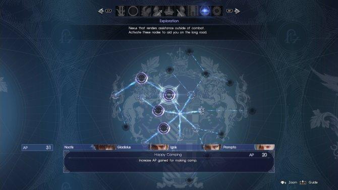 Final Fantasy 15 – какие умения лучше открыть сразу