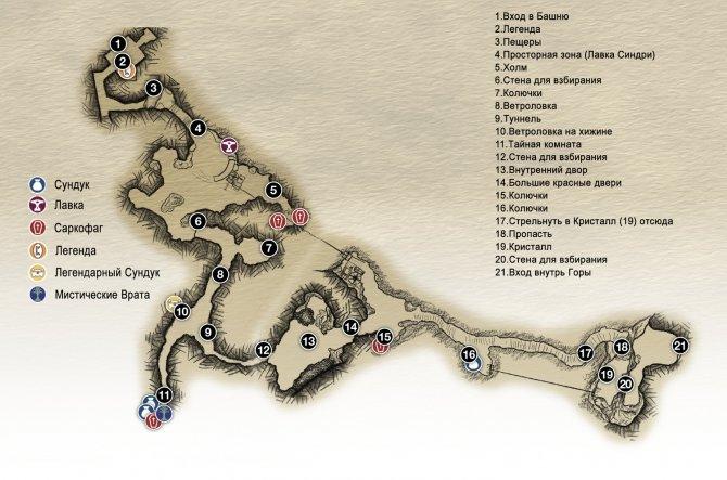 Прохождение God of War – Глава 12: Вернитесь на вершину (карта подножия Горы)
