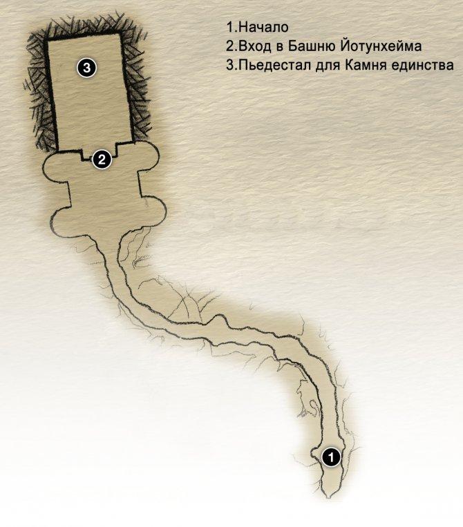 Прохождение God of War – Глава 15: Между мирами (карта Мира между мирами)