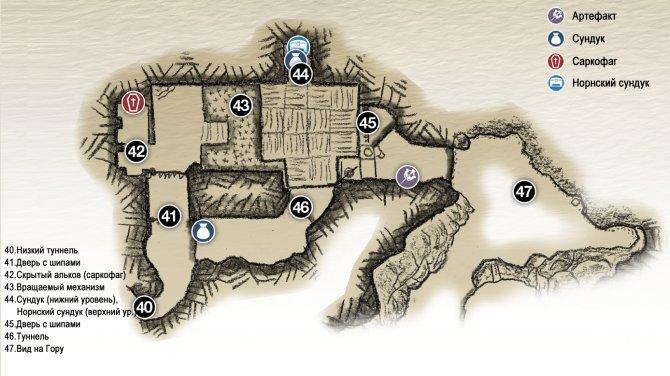 Прохождение God of War – Глава 2: Путь к горе (карта пещеры с шипастыми ловушками)