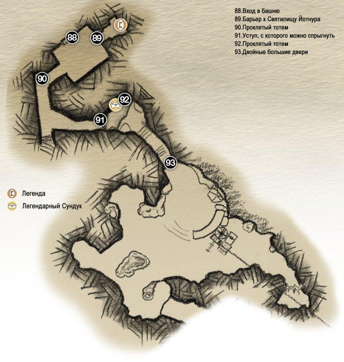 Прохождение God of War – Глава 2: Путь к горе (карта башни Ванахейма и пещер)