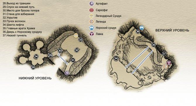 Прохождение God of War – Глава 4: Свет Альвхейма (карта Врат Храма)