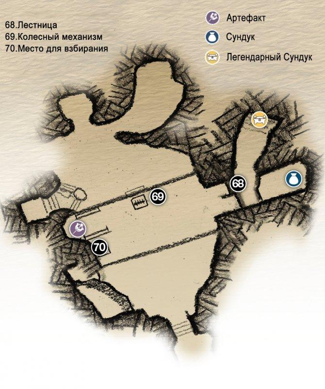 Прохождение God of War – Глава 5: Внутри Горы (карта верхнего уровня)