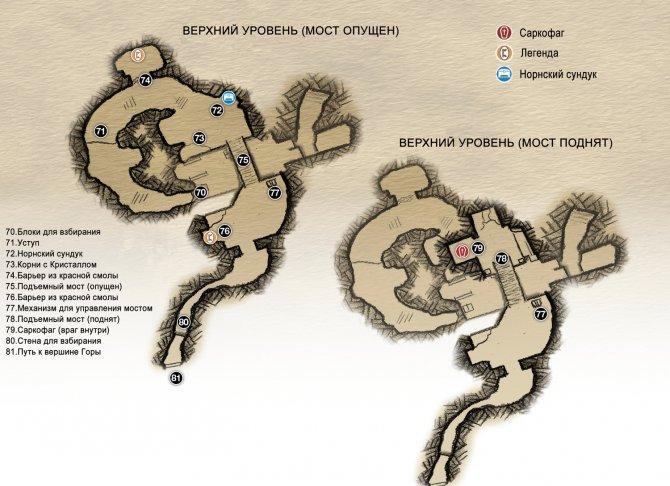 Прохождение God of War – Глава 5: Внутри Горы (карта верхнего уровня-1)