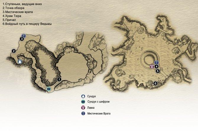Прохождение God of War – Глава 6: Новая цель (карта спуска с вершины Горы)