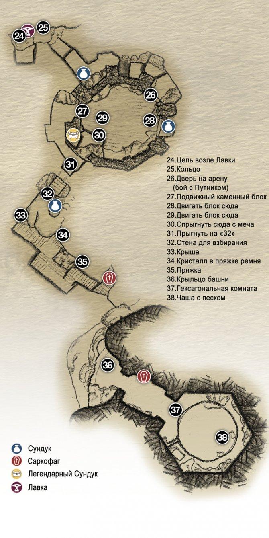 Прохождение God of War – Глава 7: Волшебный резец (карта пути к молоту Тамура)