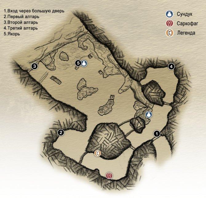 Прохождение God of War – Просьбы Драконов (карта северной части Озера Девяти)