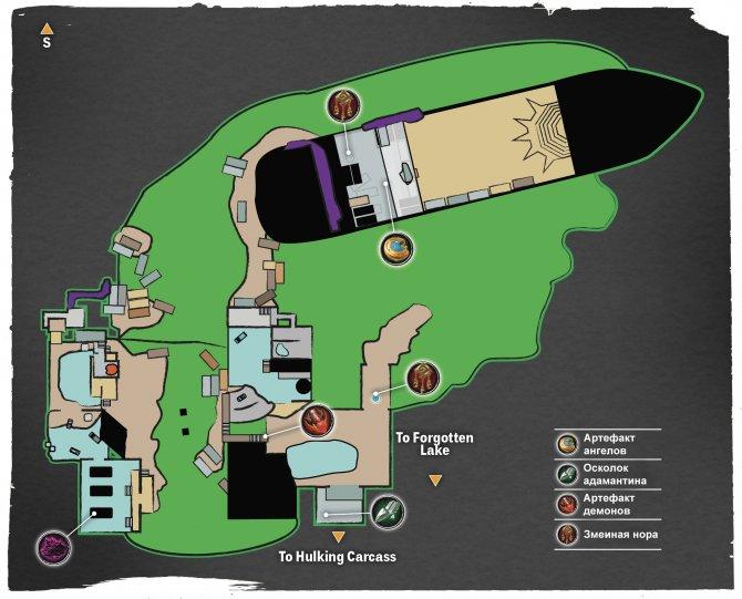 Прохождение Darksiders III – Чревоугодие (карта Трюма)