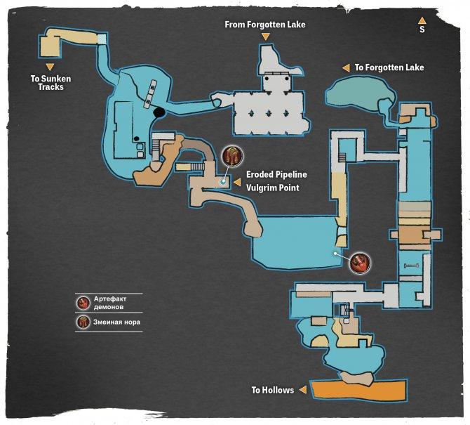Прохождение Darksiders III – Чревоугодие (карта Проржавевшего Трубопровода)