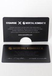 Фирменная карточка Mortal Kombat X Kollector's Edition by Coarse.